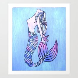 Acceptable Mermaid Art Print