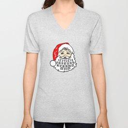Advent Calendar In Santa's Beard December Holiday Unisex V-Neck