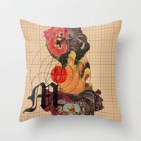 dramatical murder Throw Pillows featuring Murder Mind by Lewis Mclean