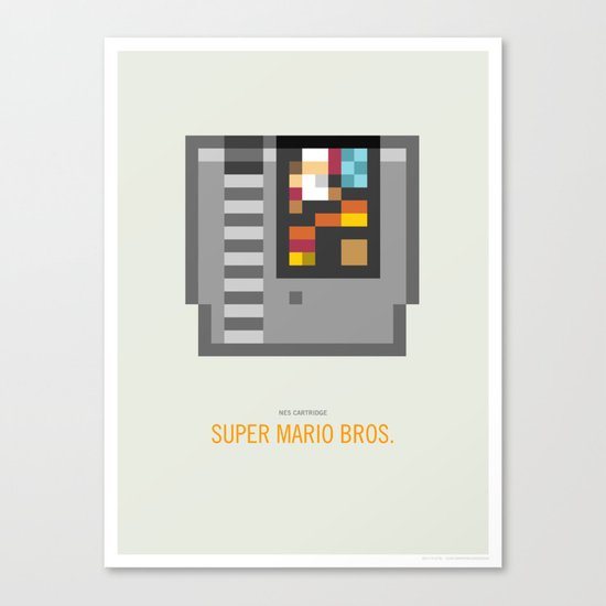 Super Mario Bros. Cartridge Canvas Print