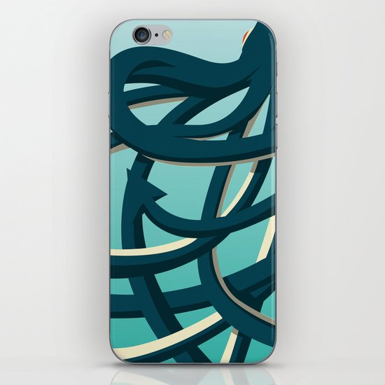 Octopus blue iPhone & iPod Skin
