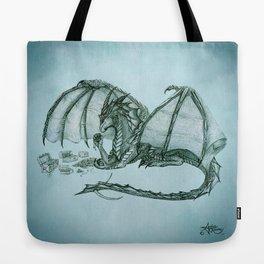 """Material Girl"" by Amber Marine ~ (Sea Mist Version) Graphite Dragon Illustration, (Copyright 2005) Tote Bag"