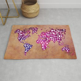 Cats world map Rug