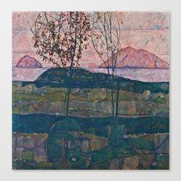 Egon Schiele - Setting Sun Canvas Print