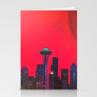 seattle Stationery Cards featuring Seattle. by Polishpattern
