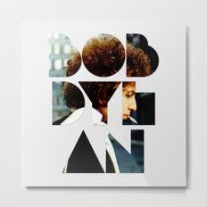 Bob Dylan Font Colour Metal Print