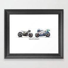 Honda RS250RW - 1985 Freddie Spencer Framed Art Print