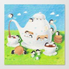 The Teapot Penguins Canvas Print