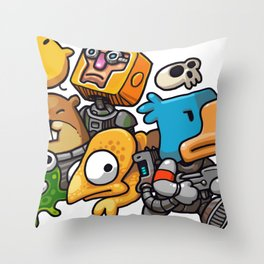 Heroes of Photonstorm Throw Pillow