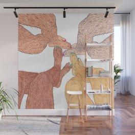 Girl Talk Wall Mural