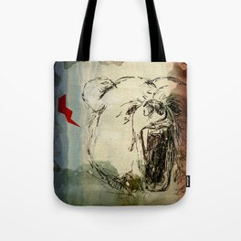 Don't Feed the Bears Lightning Tote Bag