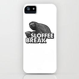 Slofee Break Sloth Coffee For Animal Sloth Lovers iPhone Case