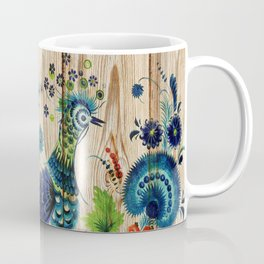 Russian Folk Art on Wood 02 Coffee Mug
