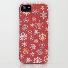 christmas snow iPhone (5, 5s) Slim Case