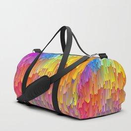 Vibrant Rainbow Cascade Design Duffle Bag