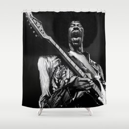 The Great Hendrix Shower Curtain
