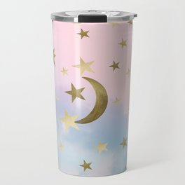 Pastel Starry Sky Moon Dream #1 #decor #art #society6 Travel Mug
