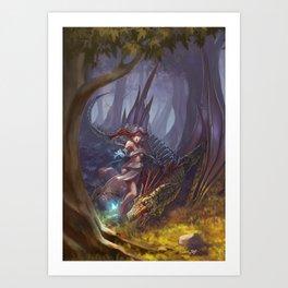 Enchanting dragon Art Print