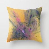 apollo Throw Pillows featuring Abrupt Apollo by J5rson