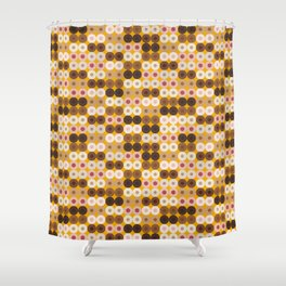 Breast Wishes (mustard) Shower Curtain