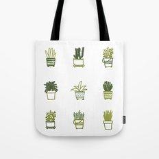 Little Green Plants Tote Bag
