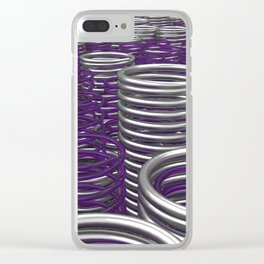 Glass and metal springs and coils Clear iPhone Case
