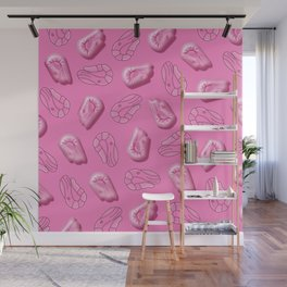 Shrimp in Pink Wall Mural