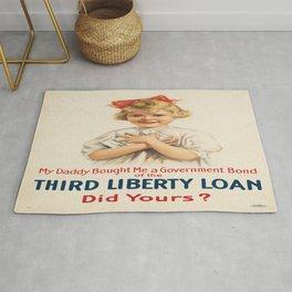 Vintage poster - Third Liberty Loan Rug