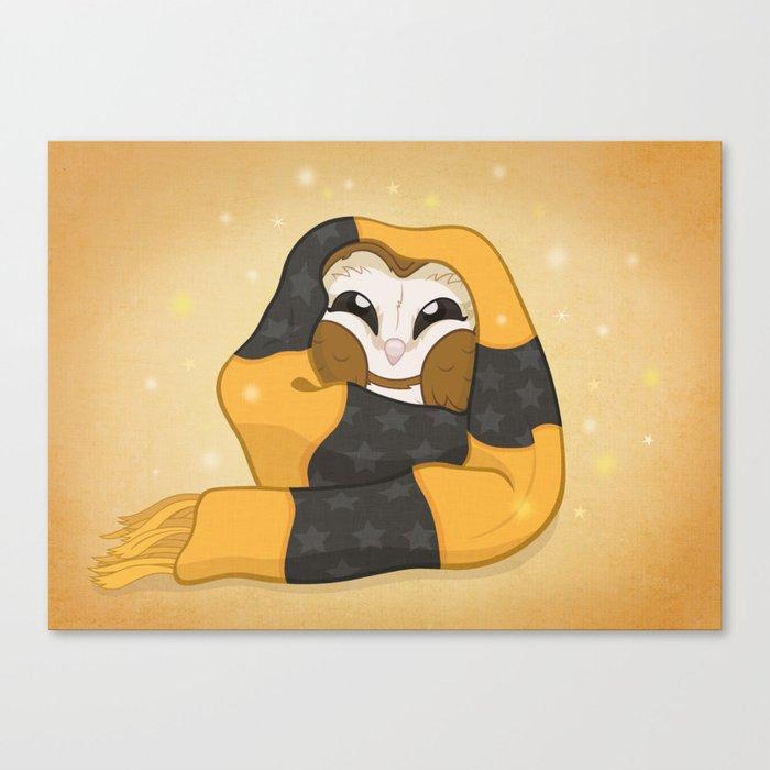 Cozy Barn Owl Canvas Print