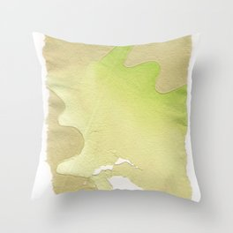 abstract lines on handmade paper Throw Pillow