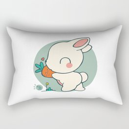 BUNNY LOVES CARROTS Rectangular Pillow