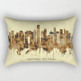 Hong Kong China Cityscape Rectangular Pillow