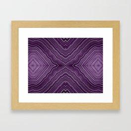 Abstract #9 - IX - Purple Framed Art Print