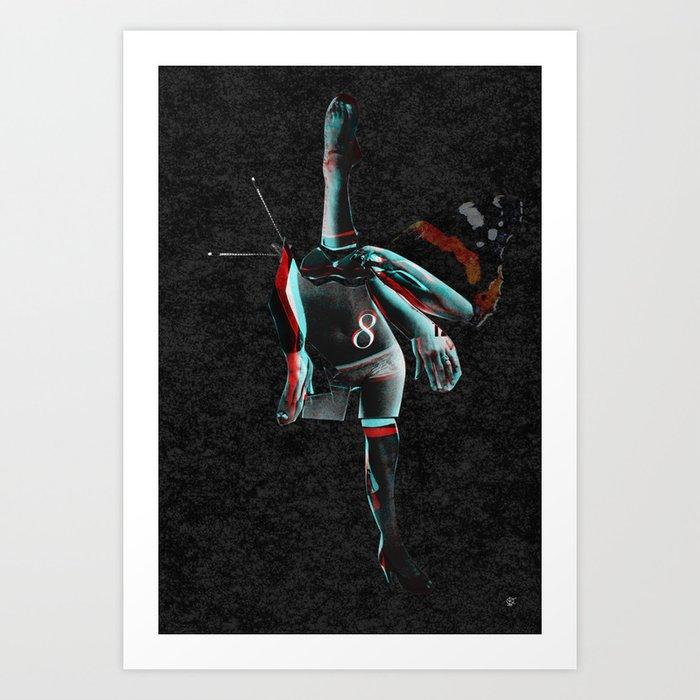Build a Woman - Cut and Glue · Miss R · the dark side · dark ground Art Print