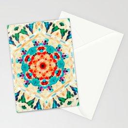Psychedelic Mandala (Green) Stationery Cards