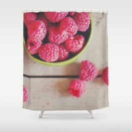 there's something about the red of a raspberry ... Shower Curtain