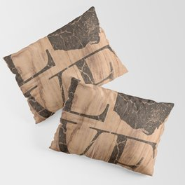 Ohio Map Home Love Vintage Wood Sign Pillow Sham