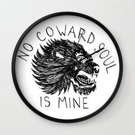 No Coward Soul is Mine Wall Clock