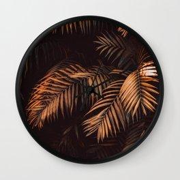 Cinnamon Stick Palms Wall Clock