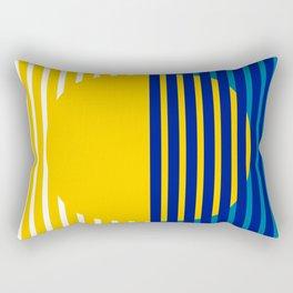 Yellow Split Sun Rectangular Pillow