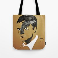 quentin tarantino Tote Bags featuring Quentin by Gabby Grife | GuinArt