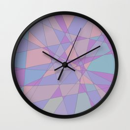 Shattered Purple & Pink Wall Clock