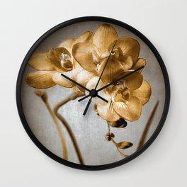 GOLDEN ORCHID Wall Clock