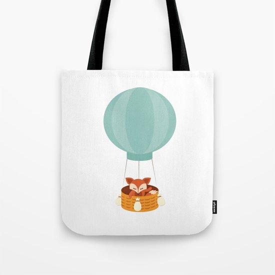 Flying fox- Animal Watercolor Illustration Tote Bag