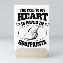 Horse riding Hoofprint Farm sweet gifts Mini Art Print