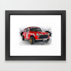 Cars: Red Mini (Mini Club Thailand) Framed Art Print