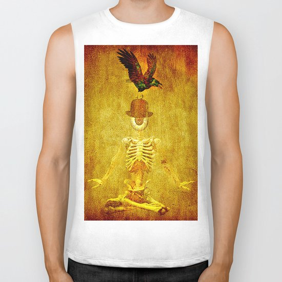 Monsieur Bone and Archibald the crow Biker Tank