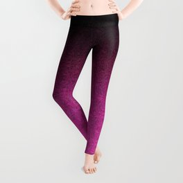 Pink & Black Glitter Gradient Leggings