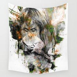 Orangutan Art Wall Tapestry