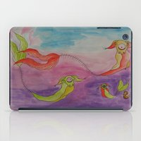 swimming iPad Cases featuring Swimming by Esmeralda Snaphaan